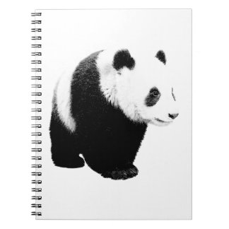 Black & White Panda Spiral Notebook