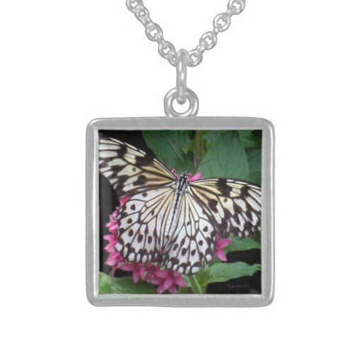 Black White Patterned Butterfly Jewelry