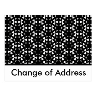 Black & White Patterns | Change of address Postcard
