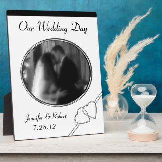 Black & White Personalized Wedding Plaque