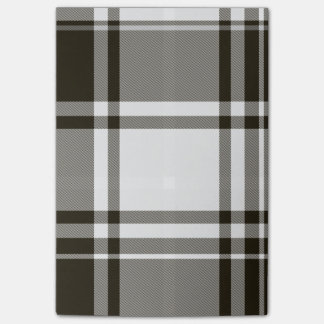 Black White Plaid PostIt Notes