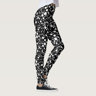 black & white polka dots leggings for her