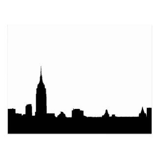 Black White Pop Art New York Silhouette Postcard