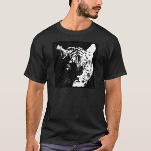 Black & White Pop Art Tiger T-Shirt
