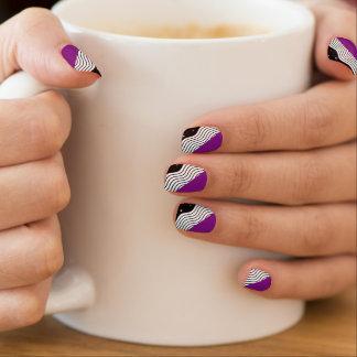Black White Purple Nail Stickers