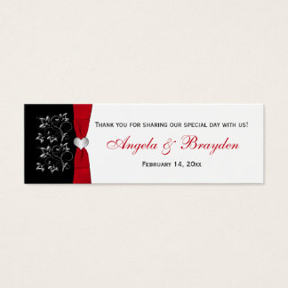 Wedding Gift Tags Nz : Custom Red And Black Wedding Favor Tag Business Cards Zazzle.co.nz