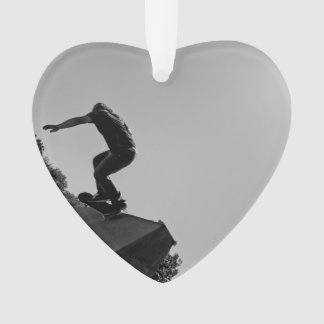 Black & White Skate Park Ornament