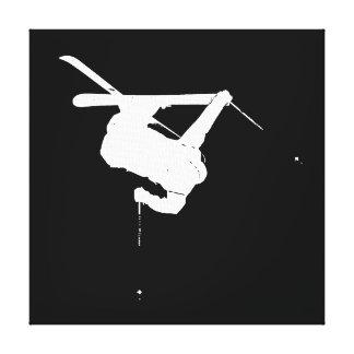 Black & White Skier Canvas Print