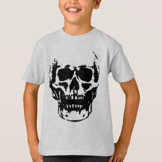 Black White Skull Pop Artwork T-Shirt