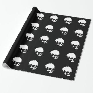 Black & White Skull Wrapping Paper