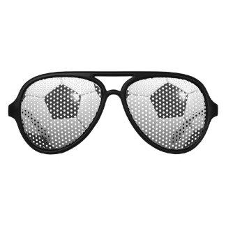 Black White Soccer Ball, Aviator Sunglasses