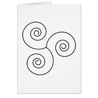 Black/White Spiral of Life Card