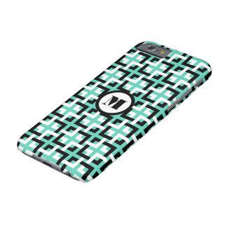 Black-White Squares and Aqua iPhone 6 Case