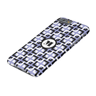 Black-White Squares and Violet iPhone 6 Case