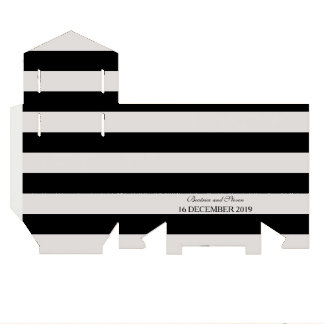 Black & White Stripes Wedding Favor Box Wedding Favour Box