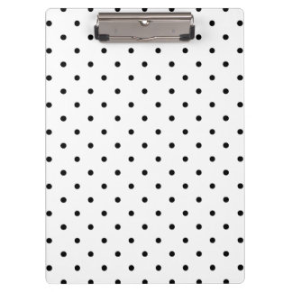 Black & White Swiss Dots | Clipboard