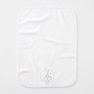 Black & White tee hee burp cloth