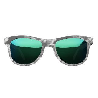 Black&White Textured Roses Sunglasses