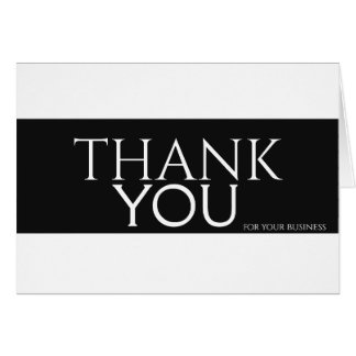Black & White Thank you for special day Card