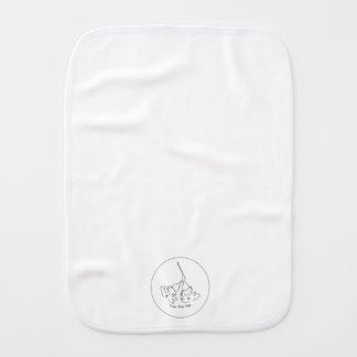 Black & White two tee hee burp cloth