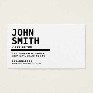 Business card for video editor gallery card design and card template editor business cards images business card template 1000 videos business cards and videos business card templates colourmoves