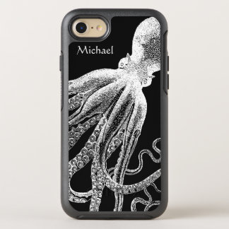 Black White Vintage Octopus Tentacles Illustration OtterBox Symmetry iPhone 8/7 Case
