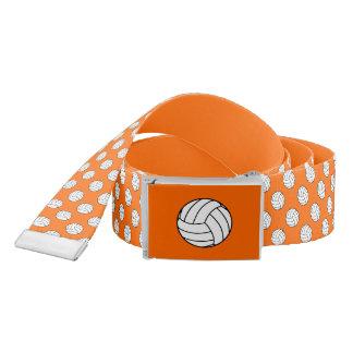 Black/White Volleyball Balls, Orange Belt