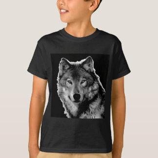 Black & White Wolf Artwork T-Shirt