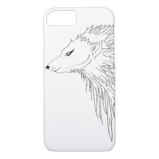 Black & White Wolf Sketch iPhone 8/7 Case