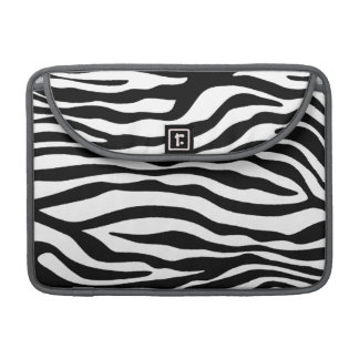 Black & White Zebra Animal Print Sleeve For MacBook Pro