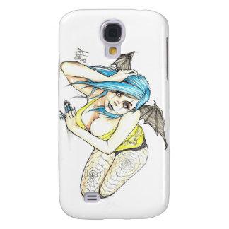 Black Winged Succubus Galaxy S4 Case