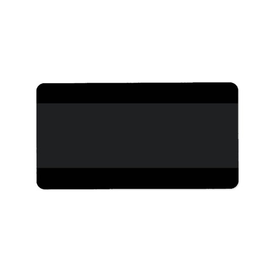 Black with lighter band plain blank address label