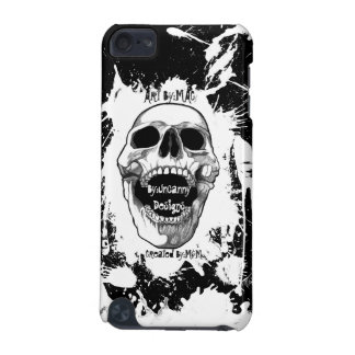 Black With White Skull Spler ® Fitted™ Har iPod Touch 5G Case