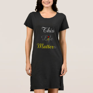 black women's dress with slogans & heart image