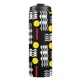 Black, Yellow and Red, Abstract Thermal Cup