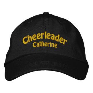 Black Yellow Custom Cheerleader s Embroidered Hats