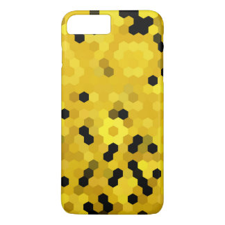 Black Yellow Honeycomb Hexagon Geometric Pattern iPhone 8 Plus/7 Plus Case
