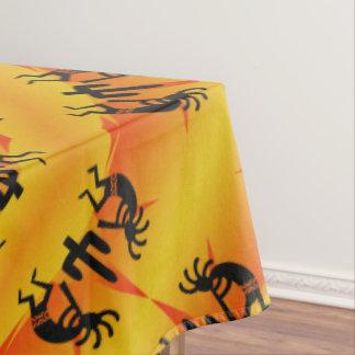 Black & Yellow Southwest Kokopelli Pattern Tablecloth