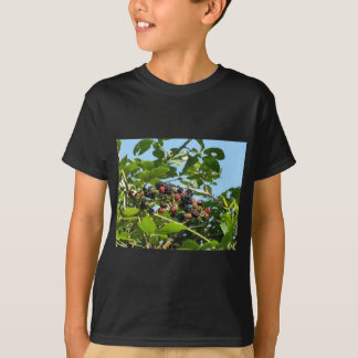 Blackberries bunch not yet fully ripened T-Shirt