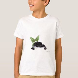 Blackberries fruits watercolour painting T-Shirt