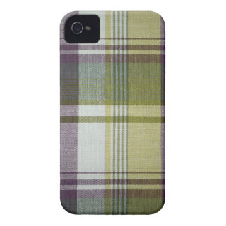 Blackberry Bold Purple & Yellow Plaid iPhone 4 Case-Mate Cases