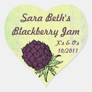 Blackberry Jam Jar Label (Customize) Sticker