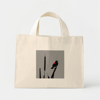 Blackbird in marsh Bag