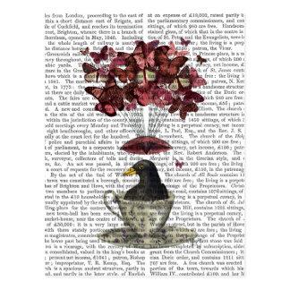 Blackbird In Teacup Postcard
