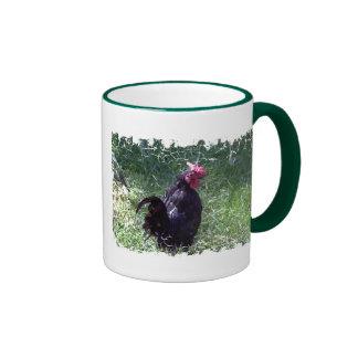 Blackbird the Black Rooster Coffee Mug