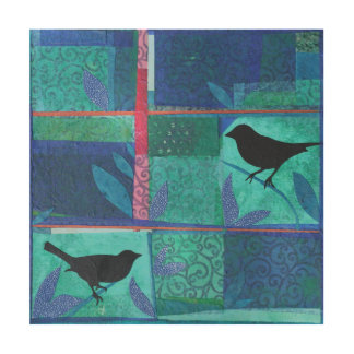 Blackbirds Wood Canvases