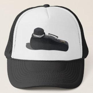 BlackFedoraMusicCase102811 Trucker Hat