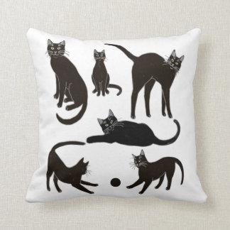 Blackie the Black Cat Pillow