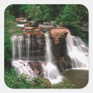 Blackwater Falls, West Virginia, scenic, Square Sticker