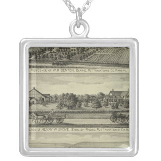 Blaine, Kansas Silver Plated Necklace